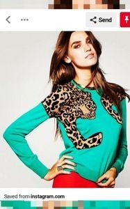 BCBG Jaxin Leopard Sweater